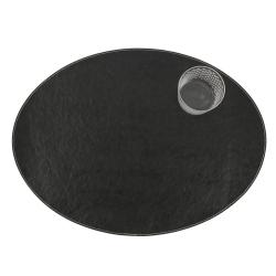 Uashmama dækkeserviet oval - sort fra uashmama på fenomen