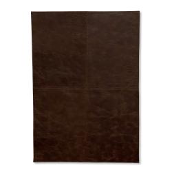 Dækkeservietter firkantet læder mørk brun - 4 stk