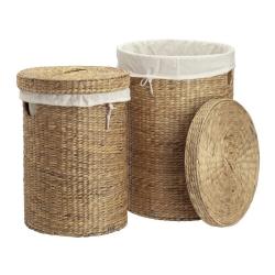 dixie Store runde vasketøjskurve i vandhyacint på fenomen