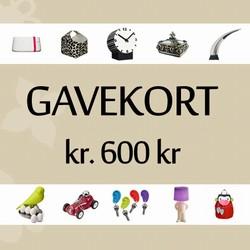 Image of   Gavekort 600 kr.