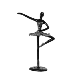 Image of   Figur ballerina i sort metal