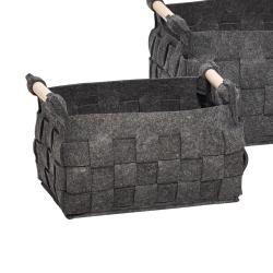 hübsch – Mørk grå filt kurv - lille fra fenomen