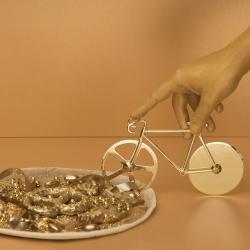 Image of   Cykel pizzaskærer - guld look