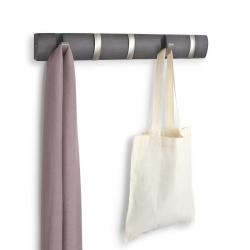 Image of   Flip knagerække 5 knager - grå drivtømmer