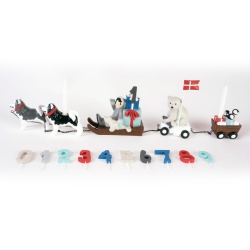 Image of   Fødselsdagstog med hundeslæde - 11 tal