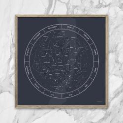 gehalt – Gehalt plakat stjernebilleder - mørkblå på fenomen