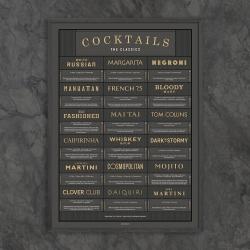 gehalt Gehalt plakat cocktails - the classics i koksgrå fra fenomen