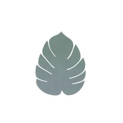 Image of   Glasbrikker læder LINDDNA blad - grøn 4 stk