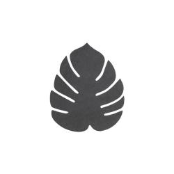 Image of   Glasbrikker læder LINDDNA blad - sort 4 stk