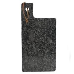 Image of   Skærebræt i granit 15x30 - mørk grå