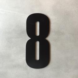 zone Husnummer 8 i sort - 20 cm fra fenomen