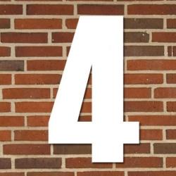 tfa Hvidt husnummer 40 cm - 4 på fenomen