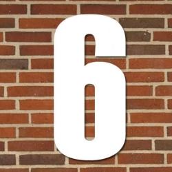 tfa – Hvidt husnummer 40 cm - 6 på fenomen