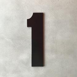 Husnummer 1 sort - 20 cm fra uashmama fra fenomen