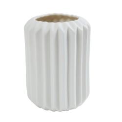 Image of   Hvid vase / urtepotteskjuler