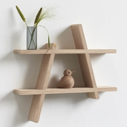Image of   A-shelf hylder i egetræ - medium