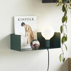 Image of   Lampe og hylde grøn metal