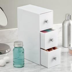 Image of   Hvid holder 3 skuffer