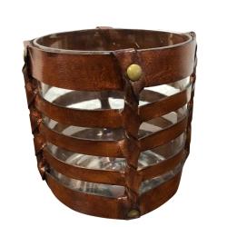 cofur colonial furniture Fyrfads lystaget - brun læder fra fenomen