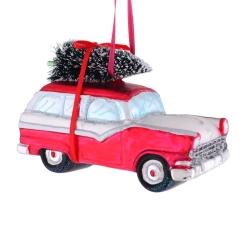Billede af Ophæng - Bil med juletræ