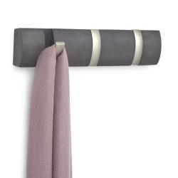 Image of   Flip knagerække 3 knager - grå drivtømmer