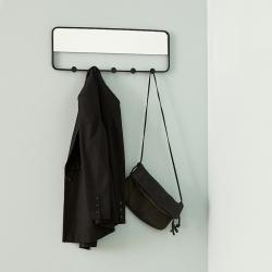 hübsch Knagerække med spejl i sort metal på fenomen