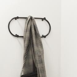 Knagerække i sort metal - hübsch fra hübsch på fenomen