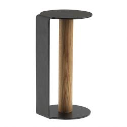 Image of   Køkkenrulleholder - sort læder