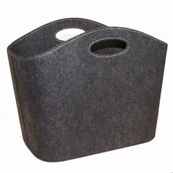 cinas – Opbevaringskurv i grå/sort filt på fenomen