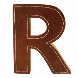 Image of   Læder bogstav - R