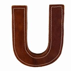 Image of   Læder bogstav - U