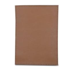 Image of   Dækkeserviet i lys brun læder look