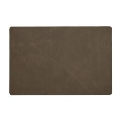 witloft – Læder dækkeserviet witloft - mørkbrun fra fenomen