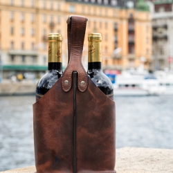 carlobolaget Vintaske til 2 flasker vin i læder fra fenomen