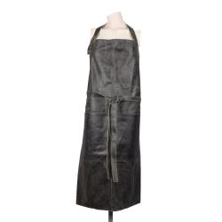 stuff design læder forklæde - sort