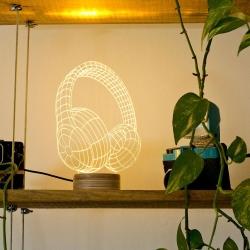 Image of   Bulbing lampe - Headphones