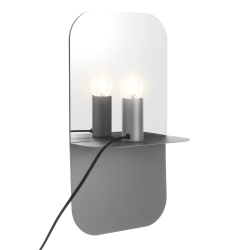 house doctor – Væglampe plate - grå på fenomen