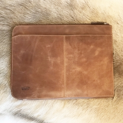 Image of   Laptop taske brun vintage læder - Corium