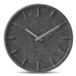 Image of   Felt35 - vægur i filt grå visere