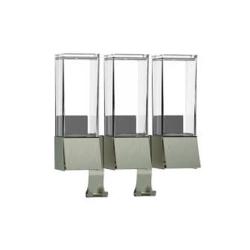 Image of   Linea sæbedispenser til væg - 3 rum