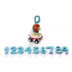 Image of   Ekstra vogn til fødselsdagstog - løve med tal