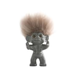 Image of   Lykketrolde - grå 9 cm