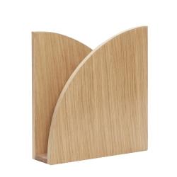 hübsch – Magasinholder til væg egetræ - hübsch på fenomen