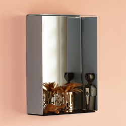Image of   Mirror box med spejl - grå