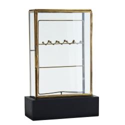 madame stoltz – Glas montre med træ base fra fenomen