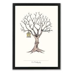 Billede af Fingerprint plakat Wedding Tree