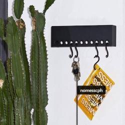 Knagerække so-hooked wall rack 30 cm - sort fra nomess fra fenomen