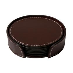 Læder glasbrikker - chocolate fra ørskov fra fenomen