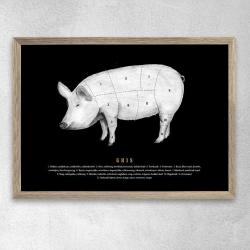 gehalt Gehalt plakat grisens udskæringer - sort fra fenomen