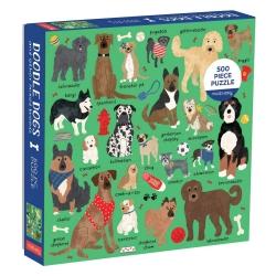 galison Puslespil - doodle dogs 500 brikker fra fenomen